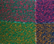 Tweed Sample from a swatch colour blanket