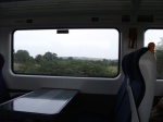 View on the window across the carriage