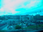 Cork City from the train