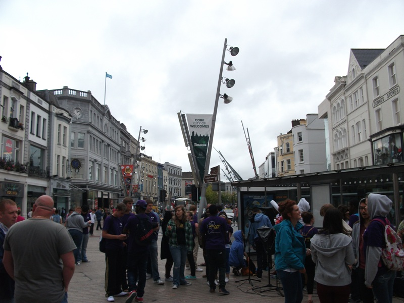 Busy St Patrick's Street, Cork City
