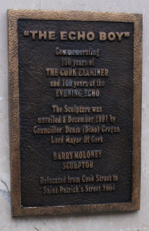 Plaque on the wall behind the Echo Boy.