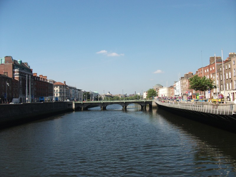 River Liffey with Upper Ormond Quay on the right